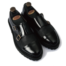R.P.S 186 [12MM] CALF MESH COMBI DOUBLE MONK STRAP